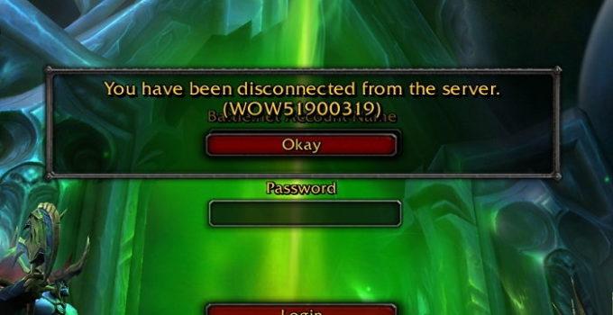 Error Code WOW51900319
