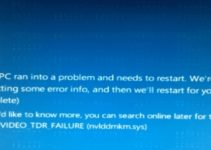 VIDEO_TDR_FAILURE (nvlddmkm.sys) BSOD Error in Windows