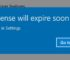 Your Windows License Will Expire Soon Error