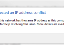 Windows Has Detected an IP Address Conflict Error in Windows 10, 8 and 7